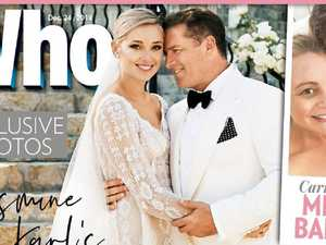 Karl Stefanovic and Jasmine Yarbrough wedding shoot for Who magazine. Picture: Who