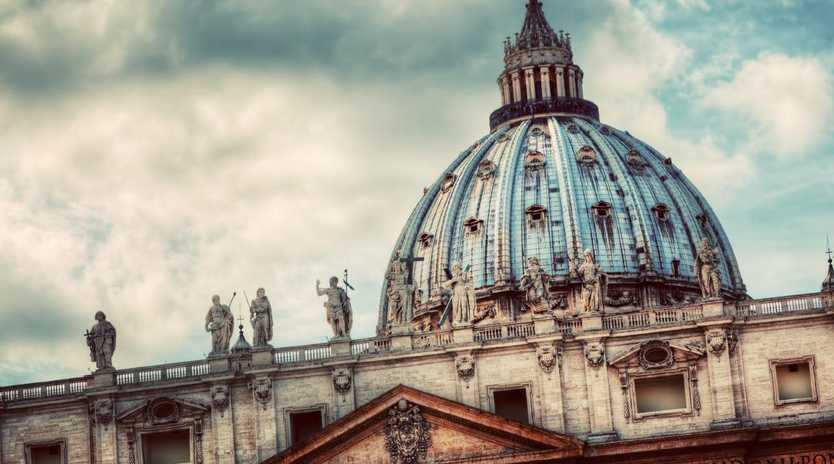 St. Peter's Basilica in Vatican City. The Pope's principal church.