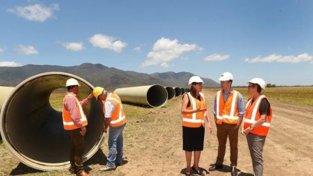 The State Government will today announce it has brought forward funding for Stage 1 of the Haughton Pipeline Duplication as part of its mid-year fiscal and economic review.