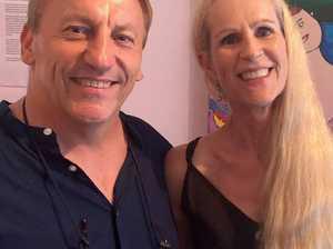 Gabor Szombati and Janine Laurent at gallery