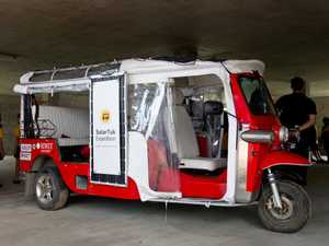 This solar powered tuk tuk has driven to Mackay all