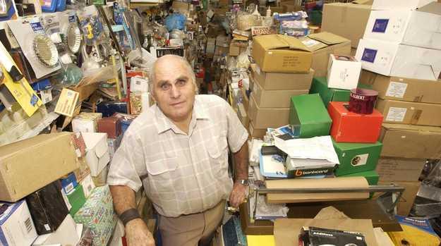 Mel Martin in his Margaret St store in 2004.