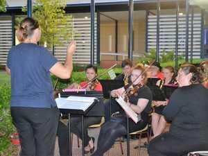 'TIS THE SEASON: The Chinchilla Concert Band kept