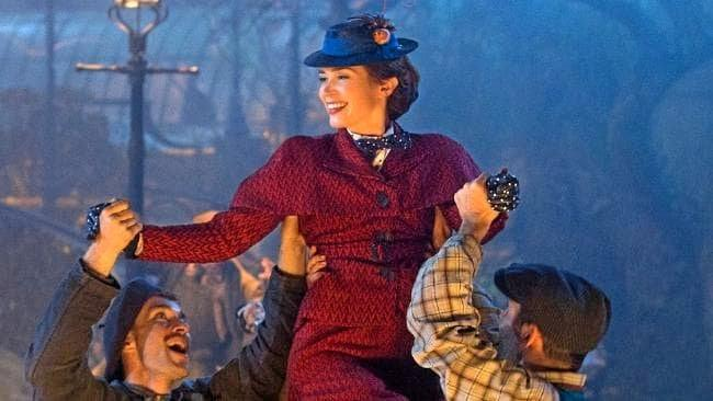 Emily Blunt in a scene from the first trailer for the movie Mary Poppins Returns.