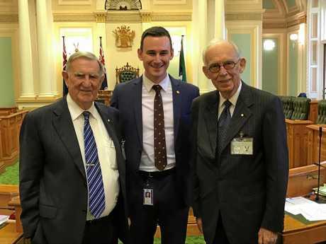 Tom Edwards, Sam O'Connor, and Sir Llew Edwards