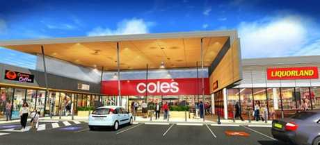 Artist's impressions of the Coles shopping centre at Jones Rd, Buderim.