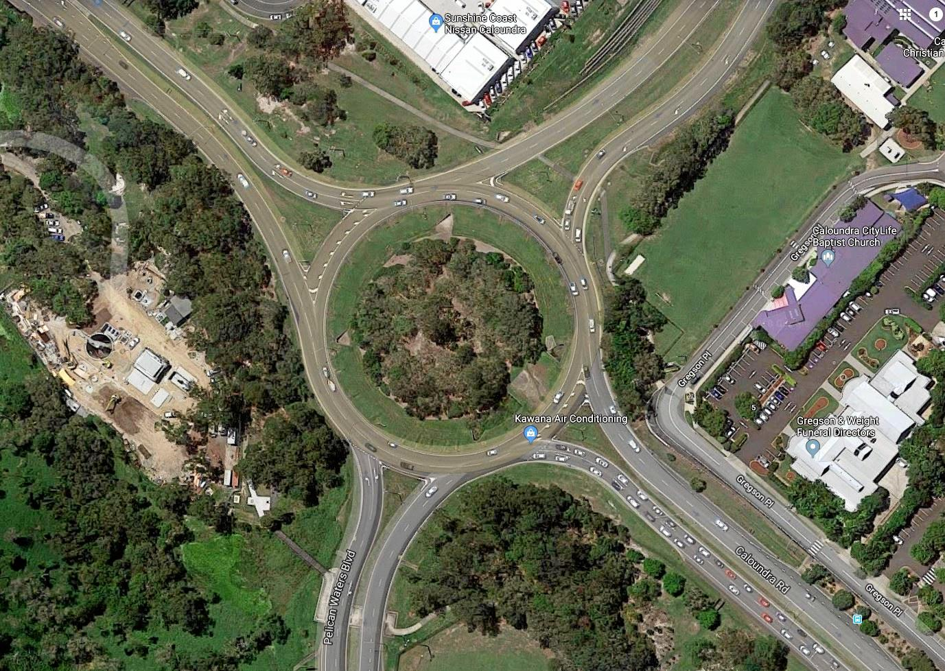 The State Government plans to install traffic lights at the intersection of Nicklin Way and Caloundra Road as part of its proposed upgrades for the junction.