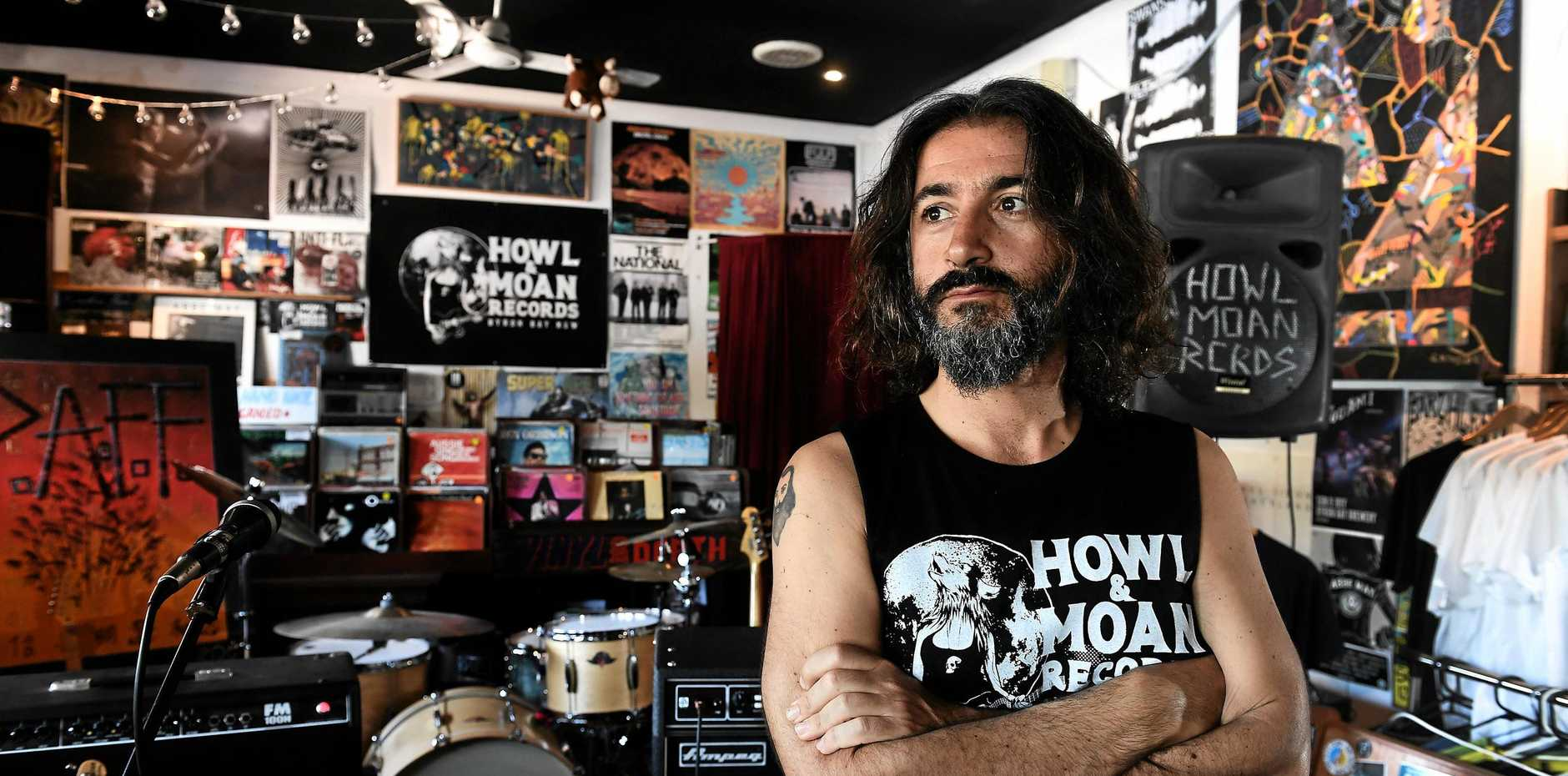 Howl & Moan owner Mario Salvatore Fraietta is thrilled to see local bands given the opportunity to play Falls Festival after he was given the opportunity to curate a local Howl and Moan stage at the massive event.