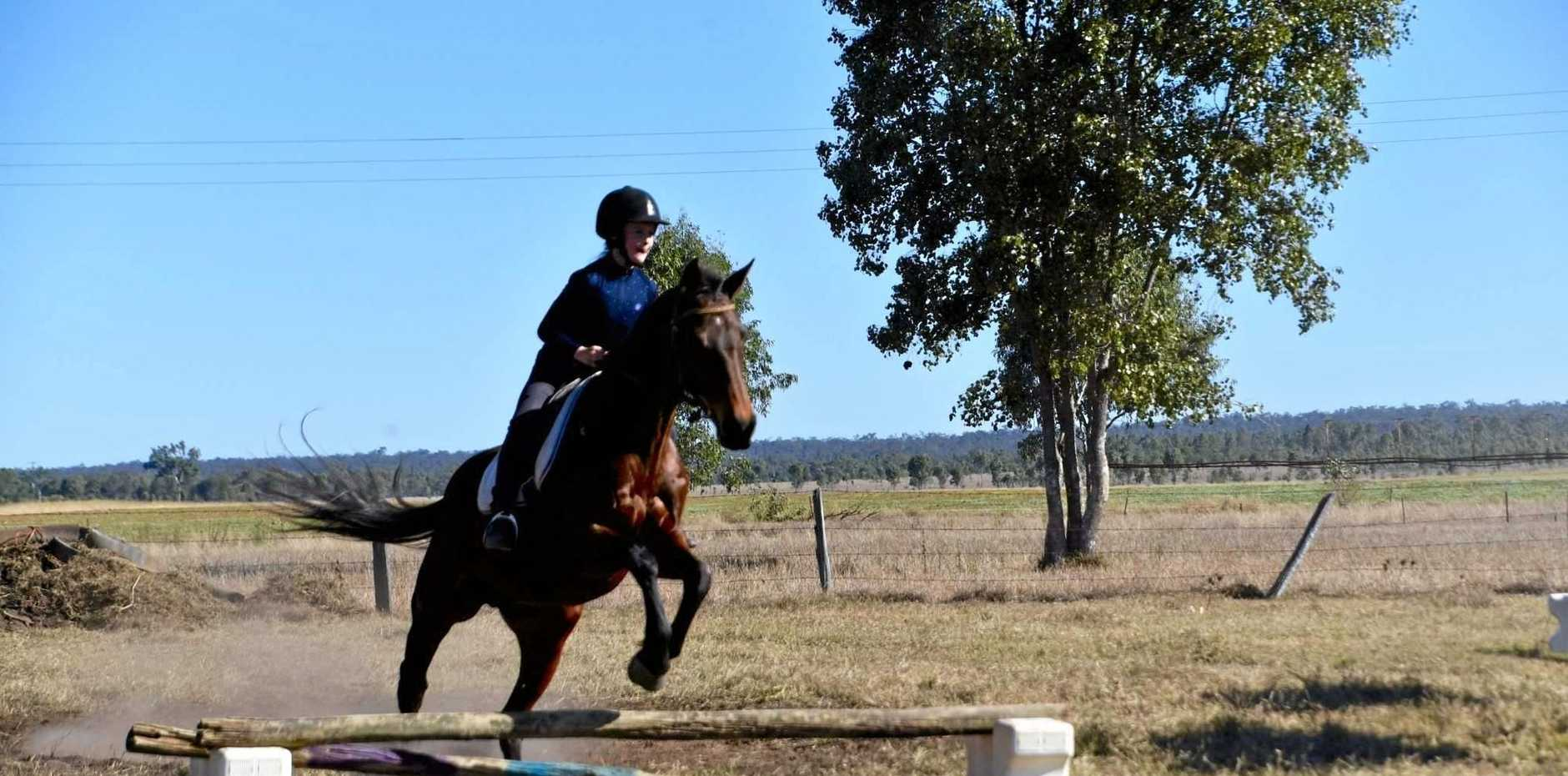 NEW FACILITIES: Greer Muirhead and Bracelet at Mundubbera Horse and Pony Club last year.