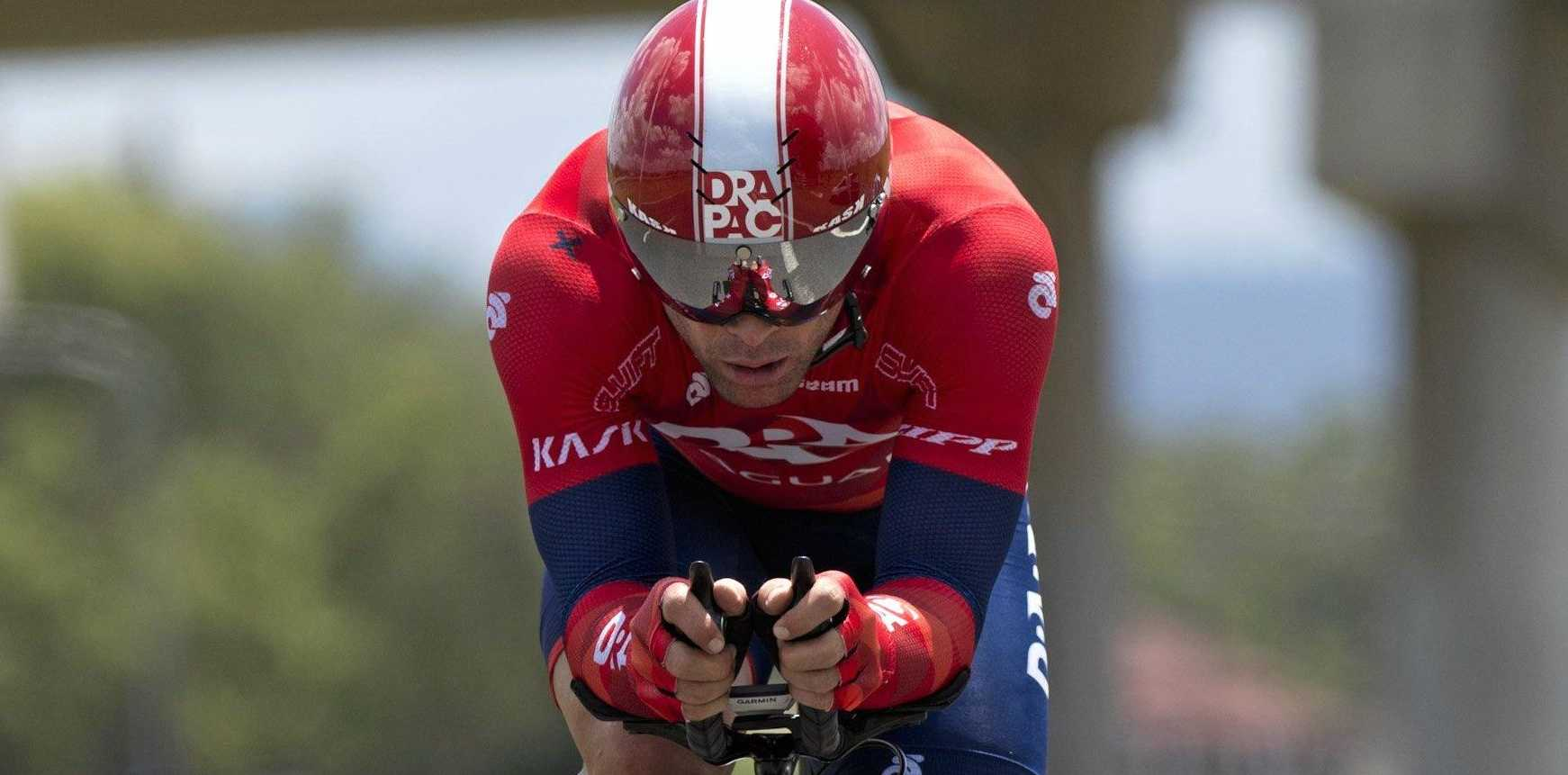 Malcolm Rudolph competes in the Oceania Road Championships Helidon time trial, Friday, February 13, 2015. Photo Kevin Farmer / The Chronicle