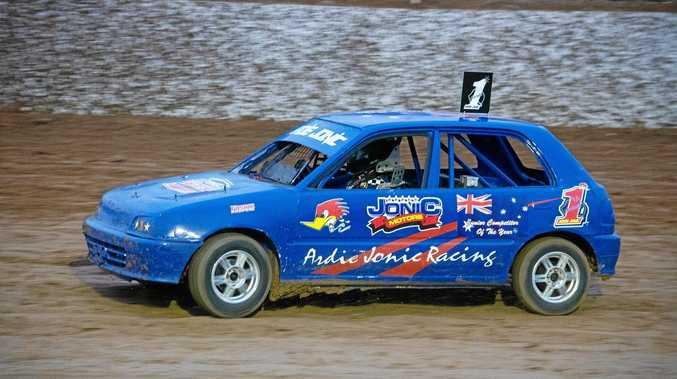 HOT FORM: Ipswich driver Ardie Jonic regained his South Australian Junior Sedan title.