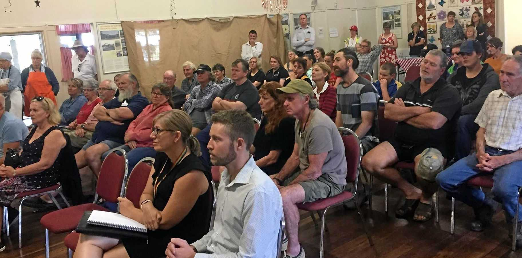 COMMUNITY UNITED: Dozens of Eungella residents gathered to Memorial Hall to discuss a host of issues related to the recent bush fires.