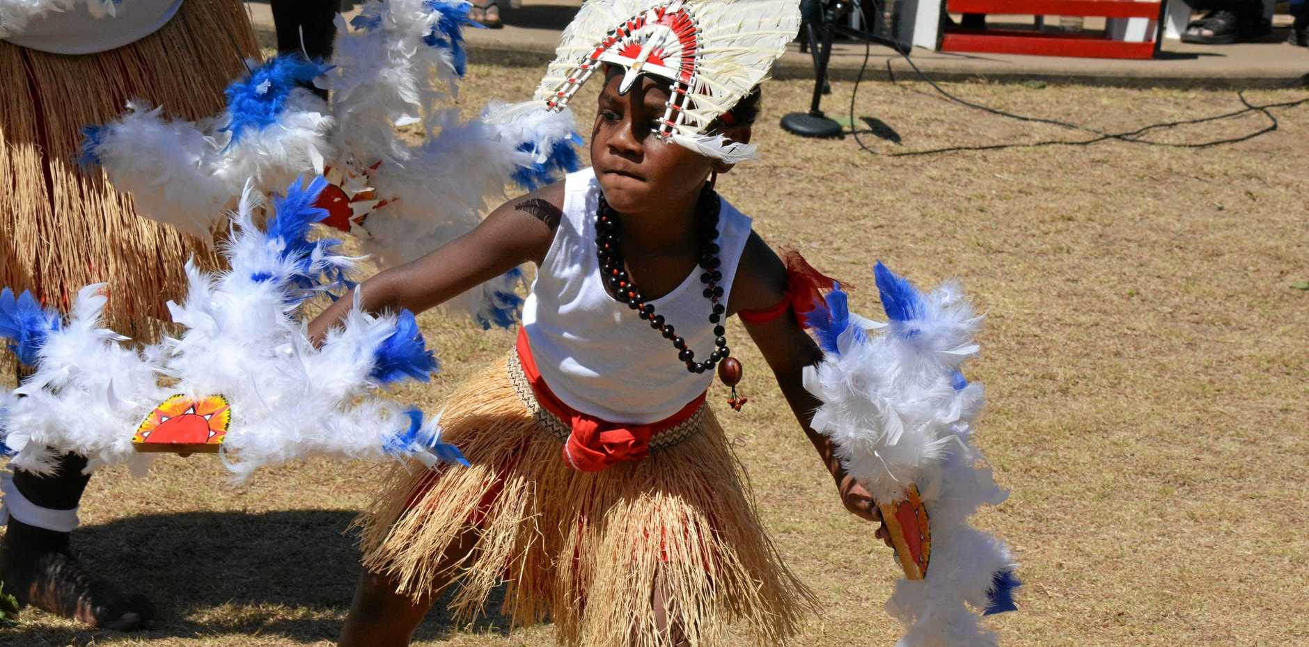 WORLD STAGE: Torres Strait Islander dancers will perform a year-long show at Dreamworld.