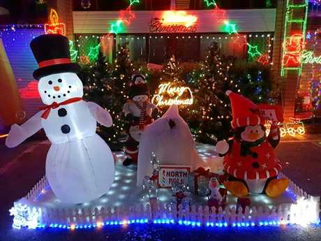 The lights display at Mahogany St, Raceview has proven popular this year.