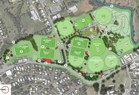 The master plan for One Mile Oval shows its future as the region's sports hub.