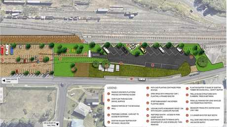 A concept plan for the Rattler Station RV park.