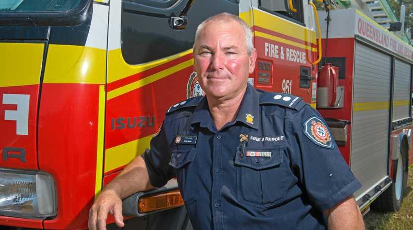Station Officer Ross Nunn travelled from Brisbane to help fight fires around Finch Hatton.
