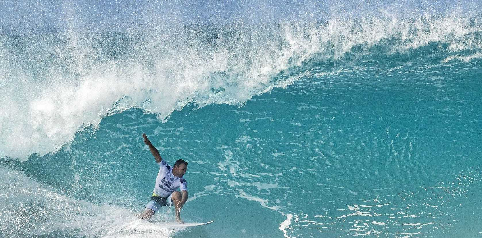 IN THE PIPE: Joel Parkinson at the Billabong Pipe Masters at Pipeline, Oahu, Hawaii.