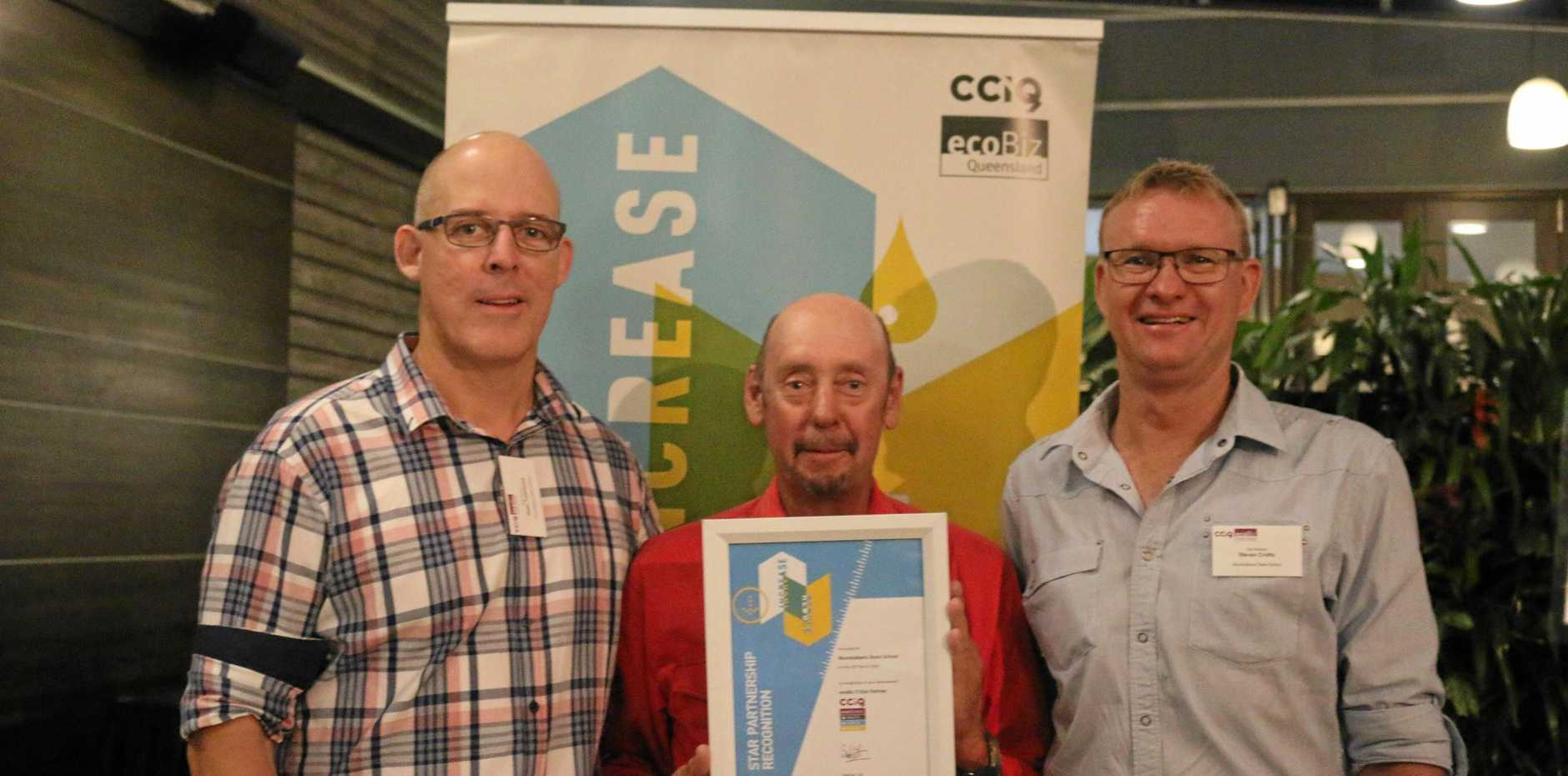 Peter Townsend, Wally Ford and Steve Crofts from Mundubbera State School.