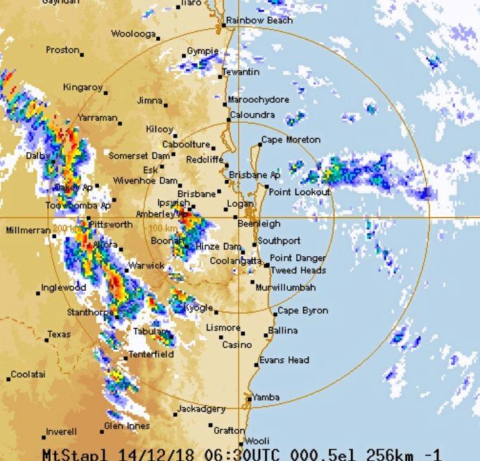 The Bureau of Meteorology has warned of damaging wind, thunder and hail due for much of the Southern Downs.