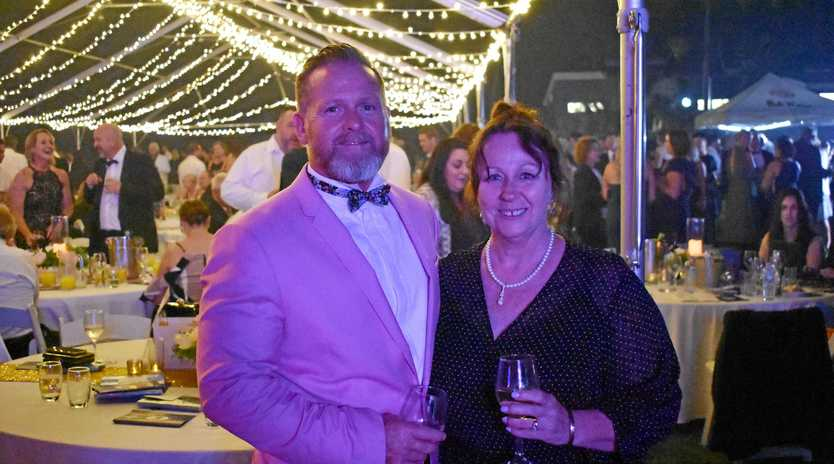 Whitsunday CEO Barry Omundson and his wife Toni at the Whitsunday Tourism awards in October.