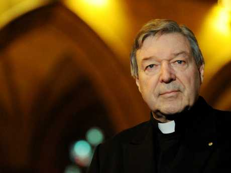 Cardinal Pell in better times. Picture: Tracey Nearmy