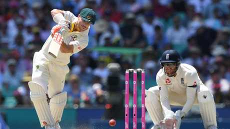 Harris, at times, looked the image of David Warner. Picture: AAP