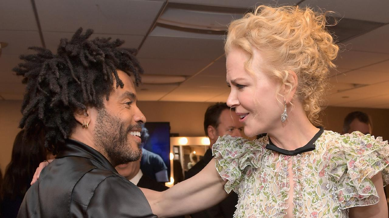 Lenny Kravitz and Nicole Kidman in 2016. Picture: Charley Gallay/Getty Images