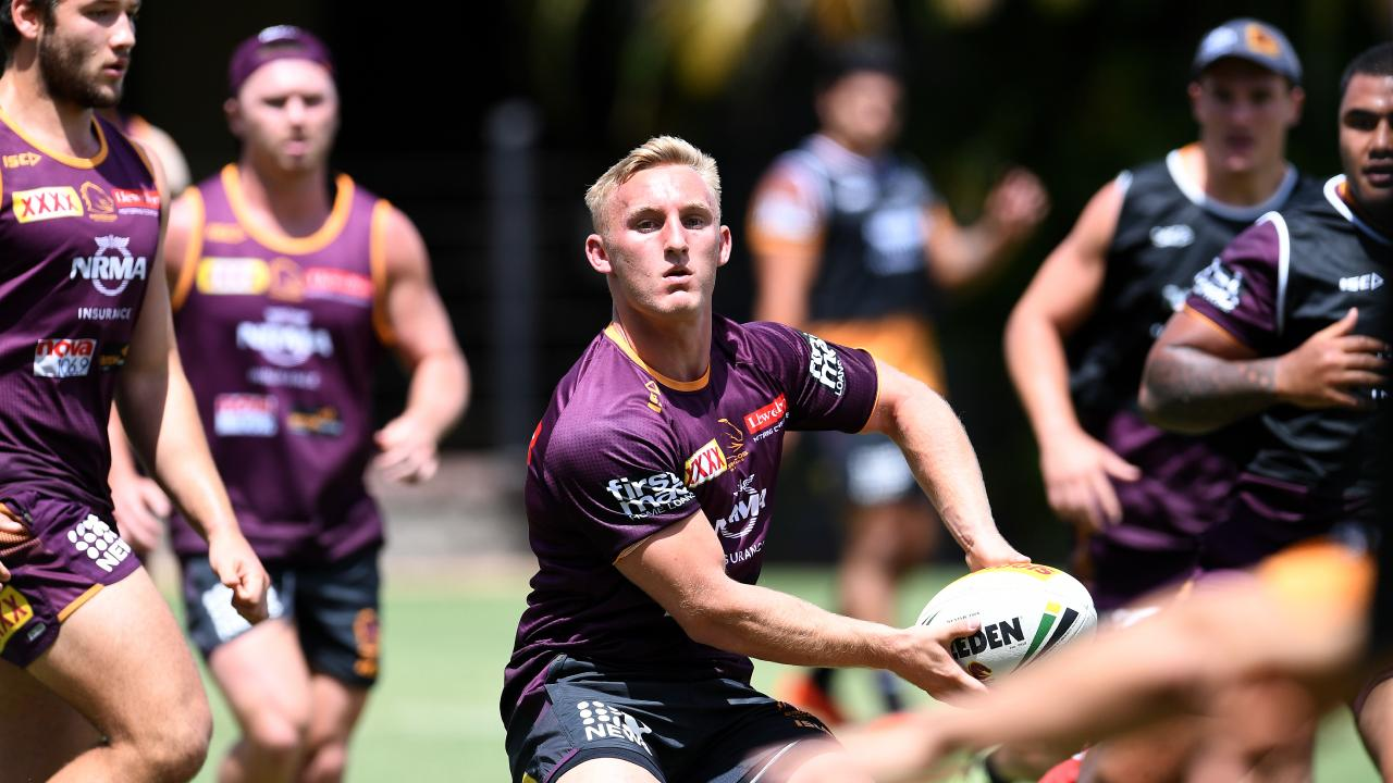 Brisbane Broncos rookie Tanah Boyd is seen during pre-season training in Brisbane, Tuesday, December 11, 2018. (AAP Image/Dan Peled) NO ARCHIVING