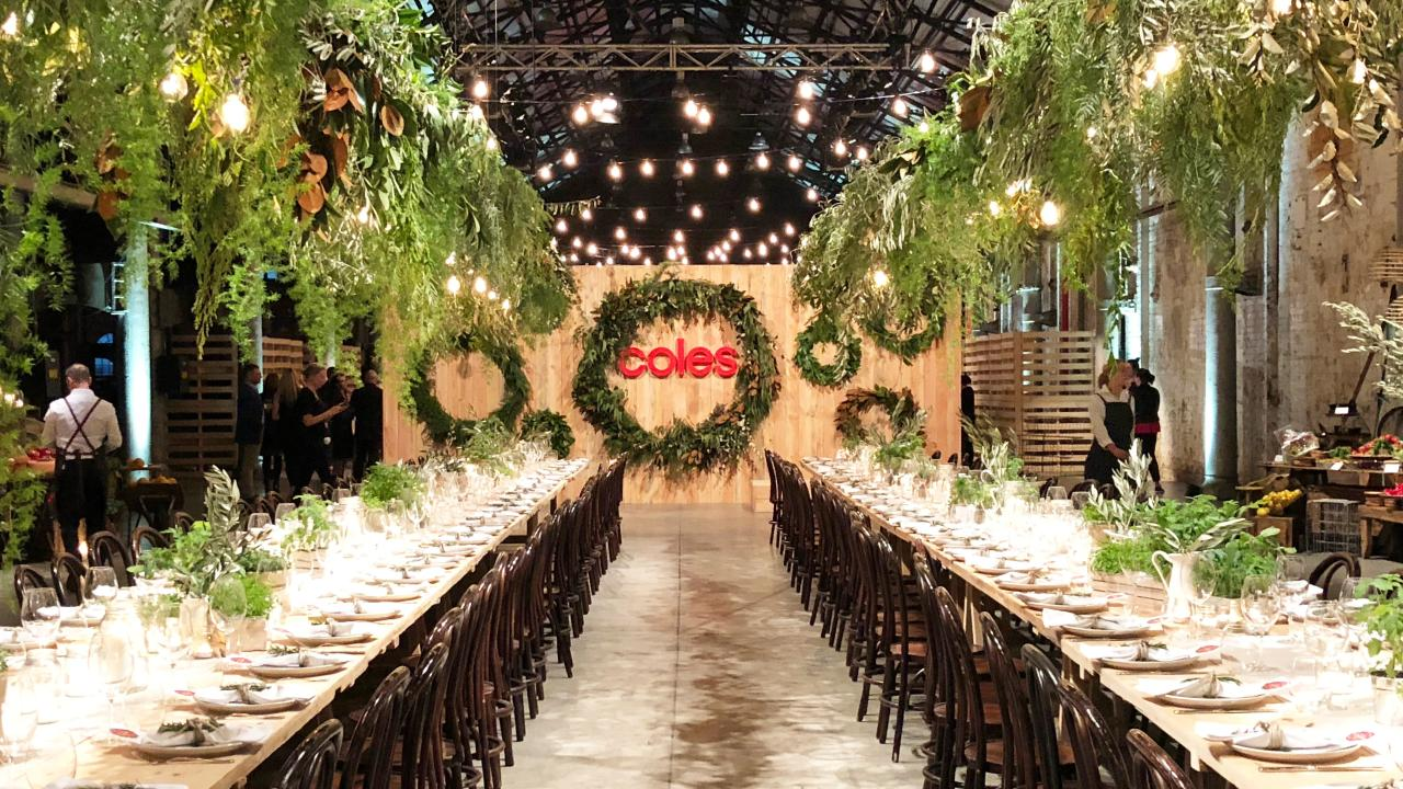 In November, Coles held a very swanky event in Sydney to show off its Christmas range. Picture: Benedict Brook