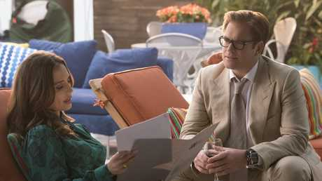 Eliza Dushku and Michael Weatherly in Bull. Picture: Barbara Nitke/CBS