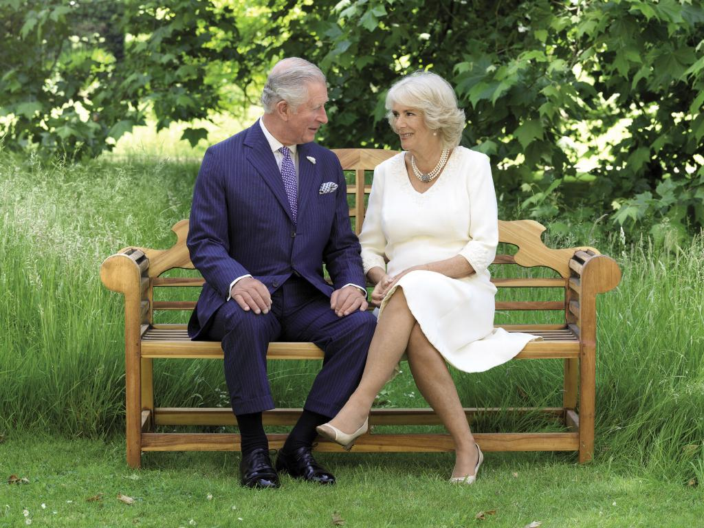 Prince Charles and Camilla, Duchess of Cornwall in the grounds of Clarence House. Picture: Hugo Burnand