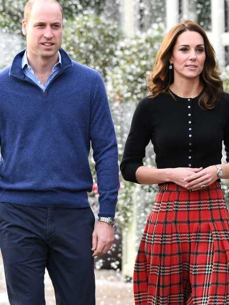 Prince William, Duke of Cambridge and Catherine, Duchess of Cambridge. Picture: Getty