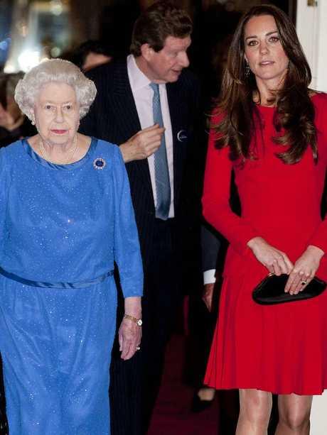 Queen Elizabeth II and Catherine, Duchess of Cambridge. Picture: Getty