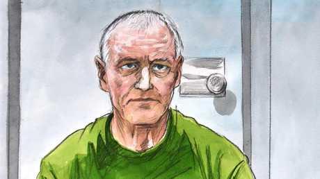 Chris Dawson's bid to get released on bail failed. Court sketch: Vincent de Gouw