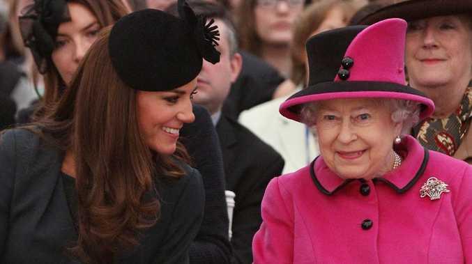 Kate visits Queen amid 'Meghan feud'