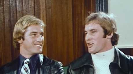 Chris (Right) and Paul Dawson from an ABC appearance in 1975.