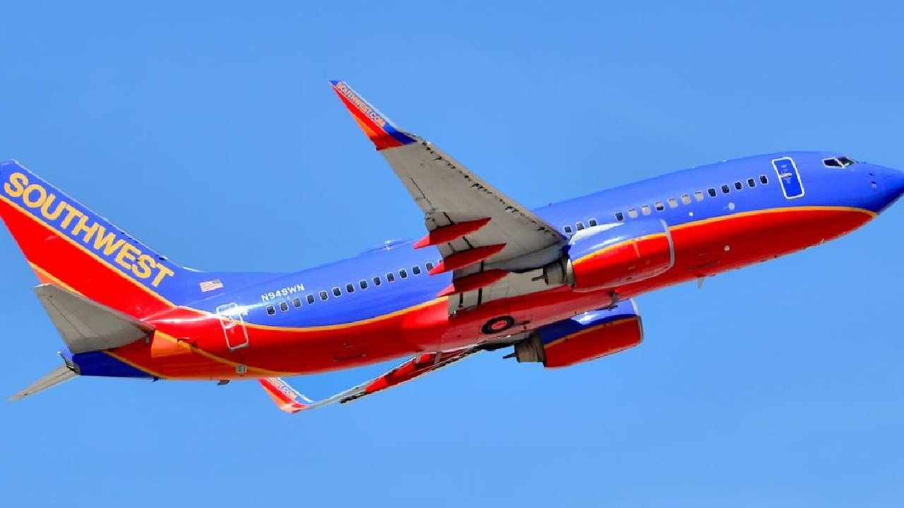 The Southwest Airlines flight was forced to turn around. Picture: Tomas Del Coro