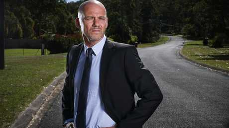 Detective Inspector Gary Jubelin (above on Benaroon Drive) has prepared a brief of evidence for the NSW Coroner's inquest into William Tyrrell. Picture: Lindsay Moller