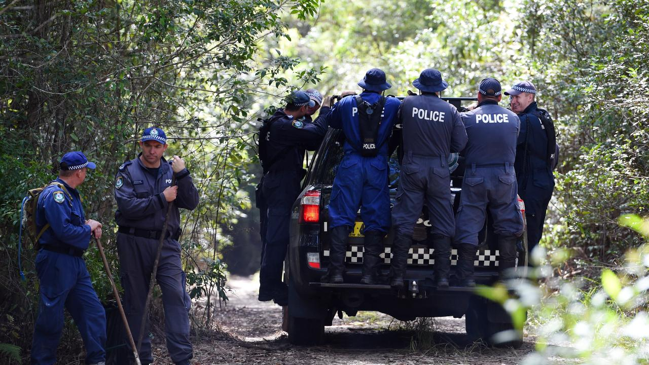 NSW Public Order and Riot Squad Police continue their search for evidence of missing boy William Tyrrell. Picture: Dan Himbrechts