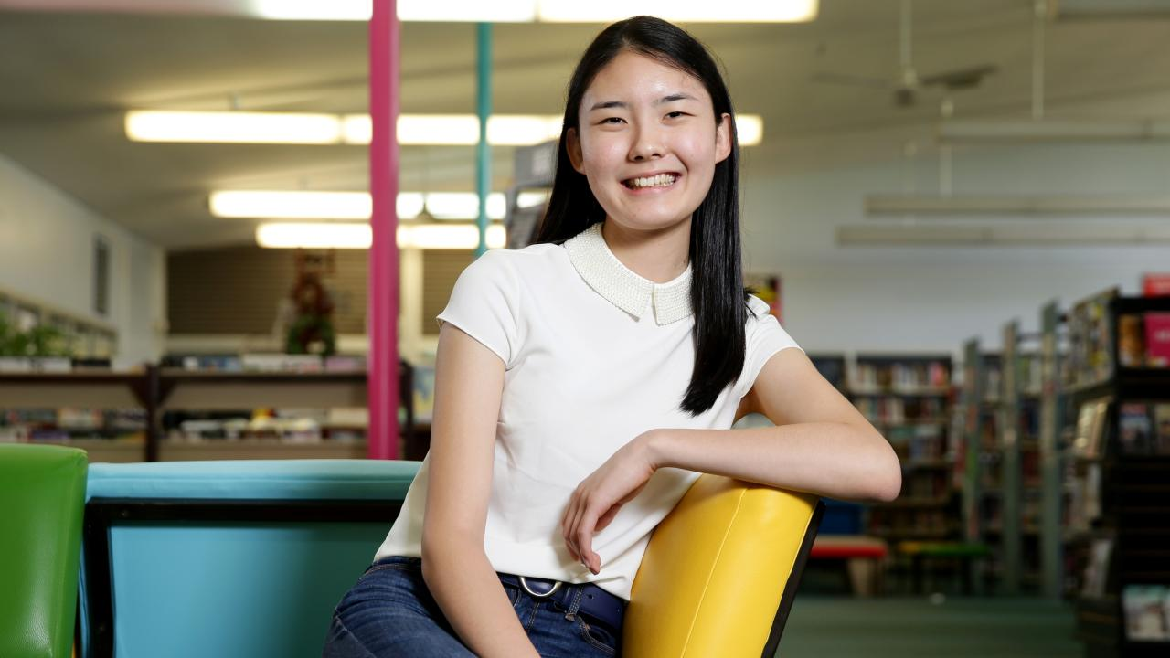 James Ruse student Yoo-Jeong Shin achieved an ATAR of 99.95. Picture: Jonathan Ng