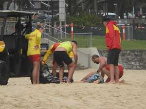 PIC EXCLUSIVE: Dramatic Sunshine Coast surf rescue