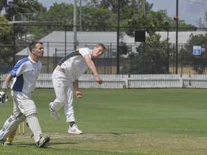 A Westlawn bowler in a clash between