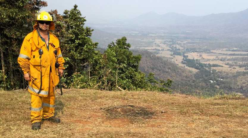 Peter Attard from Habana Rural Fire Brigade helped organise the crew during recent bush fires.