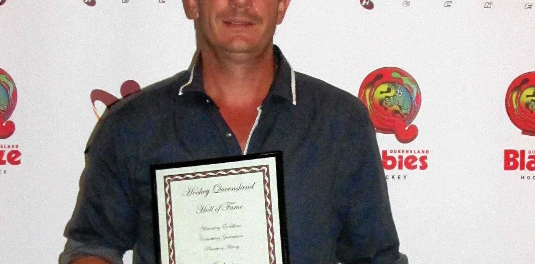 PREVIOUS WINNER: Hockey Queensland Hall of Fame inductee Dean Butler was the first overall junior winner in the  Daily News /Warwick Credit Union Sports Awards.
