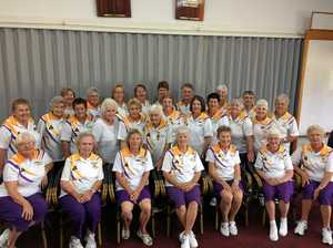 All the winners from the Sunshine Ladies' presentation
