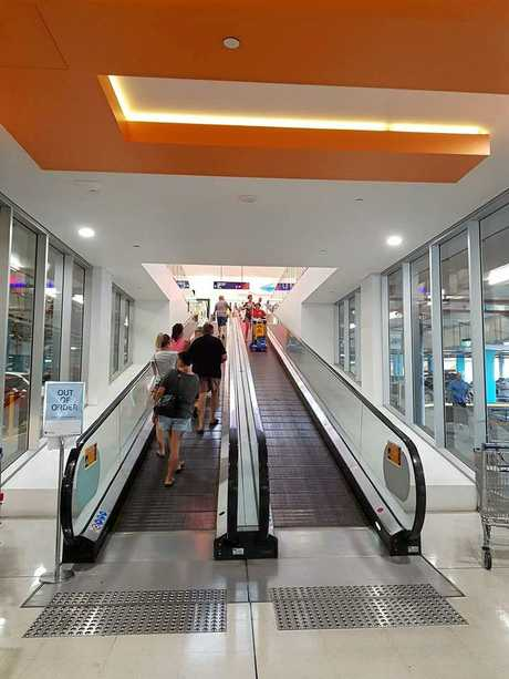 STOCKLAND INCIDENT: The lefthand travelator was not running today after the incident.