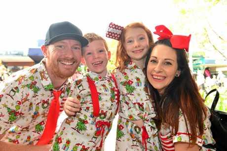 MATCHING FAMILY: Joel, Amanda, Eva and Ari Valentine.
