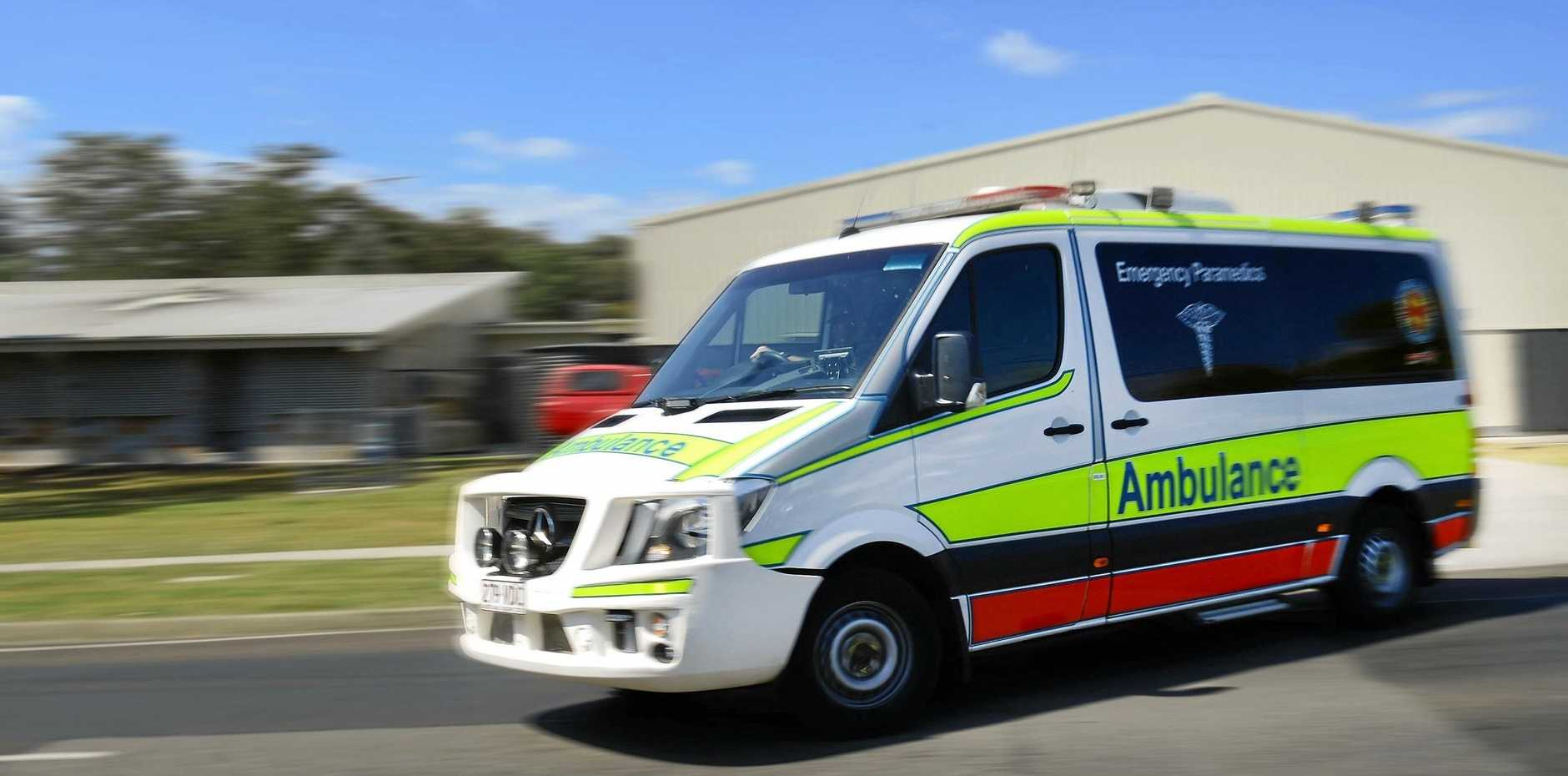 CAR CRASH: One man was taken to the Gympie Hospital after a car crash on the Bruce Highway earlier this morning.