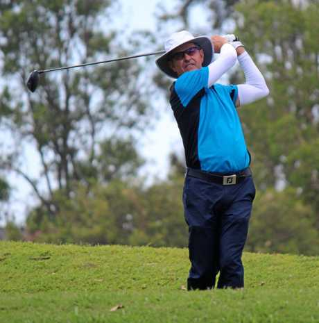 Richard Backwell on his way to victory in this year's Sunshine Coast Masters.